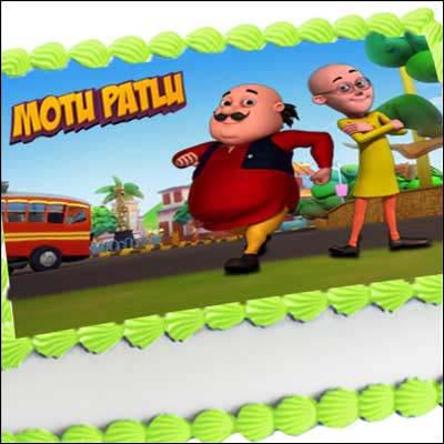 Motu Patlu 2kgs Photo Cake Send Cartoon Photo Cakes To India