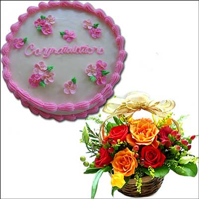 Send Cakes And Flowers To Hyderabad Vizag Vijayawada Guntur
