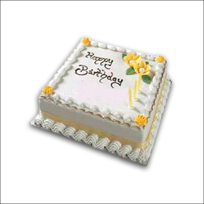 Delicious Square Shape Vanilla Cake 1 Kg Send General Cakes To