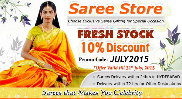 10% Discount on Sarees