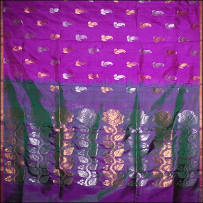 Magenta Color Uppada Pattu Saree - SLS-17 - Click here to View more details about this Product