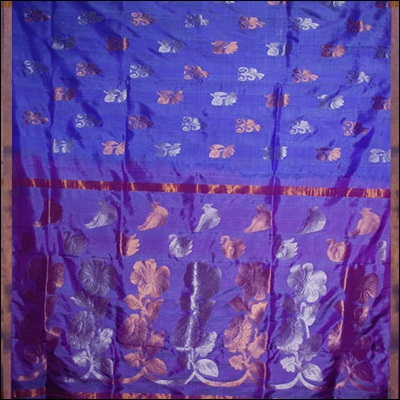 Kalaneta Violet Color Uppada Pattu Saree SLS-20 - Click here to View more details about this Product