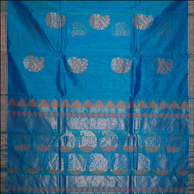 Anandablue  Color Coimbatore Seico Saree - CSS-49(With Blouse) - Click here to View more details about this Product