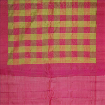 Gadwal Seico Plain Checks saree - MHM-28 - Click here to View more details about this Product