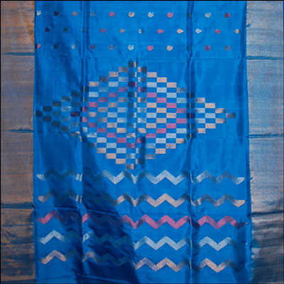 Anandablue Color Uppada Pattu Saree SLU-75 - Click here to View more details about this Product