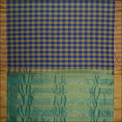 Gadwal Seico Plain Checks saree - SMHG-13 (with Blouse) - Click here to View more details about this Product