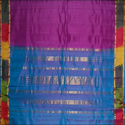 Majenta color Gadwal Pattu (Pure silk) saree - SMHG-19(with Blouse) - Click here to View more details about this Product