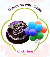 Blown Balloons with Cake